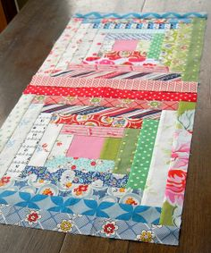 Court House Steps scrap quilt.-----love the combination of the fabrics