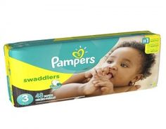 Pampers Swaddlers Size 3  Pampers Swaddlers are the softest diapers among the leading brands. #babygifts #babyshower #babygear #babyseats #diapers #nursery #strollers