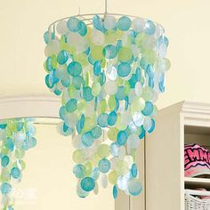 wax paper and crayons chandelier must do