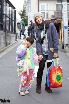 Harajuku Girl with Handmade Pants