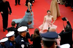"Actress Araya A. Hargate attends the ""Cafe Society"" premiere and the Opening Night Gala during the 69th annual Cannes Film Festival at the Palais des Festivals on May 11, 2016 in Cannes, France."