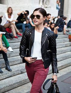 Balenciaga motorcycle leather jacket. Want.