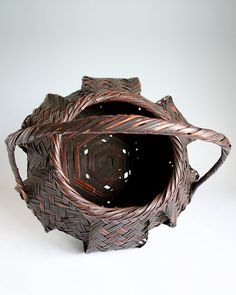 Buseki Suishin (1888-1983), Flower Basket - BambooTokyo.com - Japanese Bamboo Basket -