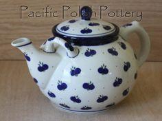 Polish Pottery Double Handle Teapot (Pattern 67A)