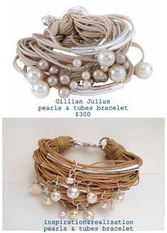 DIY Gillian Julius pearls and tubes bracelet