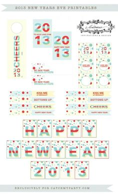 Free New Year's Eve party printables! #newyears