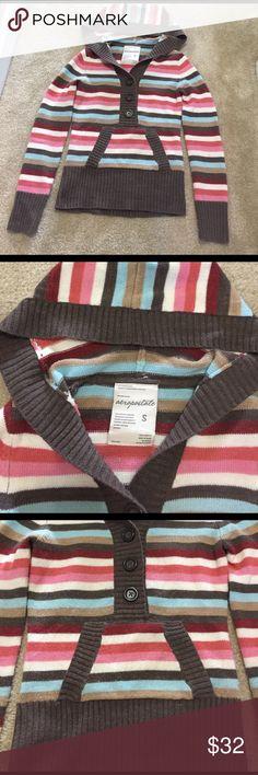 3 25 Aeropostale striped sweater hoody S Aeropostale striped sweater hoody f87da5284a801