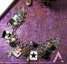 David Bowie black star charm  Bracelet by staweird on Etsy DIY Jewelry Handmade