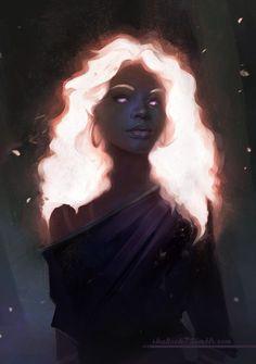 Black Girl Art, Black Women Art, Black Art, Art Girl, Black White, Fantasy Kunst, Fantasy Art, Fantasy Love, Fantasy Makeup