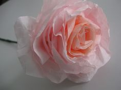 Coffee filter roses by Craftberry Bush