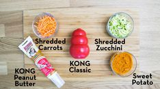 Every dog loves their KONG - add to the excitement with some of our stuffing recipes. They are easy to prepare and KONG dog tested! Dog Biscuit Recipes, Dog Food Recipes, Kong Treats, Kong Company, Dog Enrichment, Kong Toys, Sweet Peanuts, Stuffing Recipes, Dog Biscuits