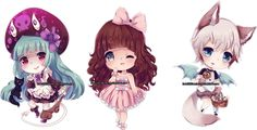 Chibi commissions 8 by LaDollBlanche.deviantart.com on @DeviantArt