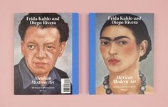 """Portraits of the artists appear on the back and front cover of """"Frida Kahlo and Diego Rivera and Mexican Modern Art."""""""