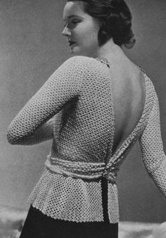 #vintage #crochet blouse pattern - 1935