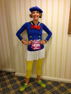 Kelly @according2kelly ready to run Disney's Wine and Dine Half Marathon as Donald Duck. by AngryJulieMonday, via Flickr