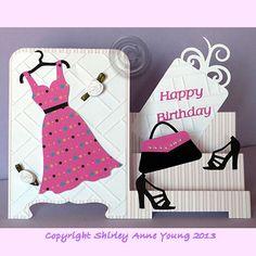 Shirleys Cards: Fashion Step Card
