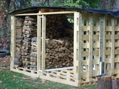 Wood shed made from pallets