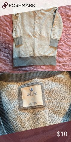 Aerie Sweatshirt Super soft and comfy! Perfect with leggings aerie Tops Sweatshirts & Hoodies