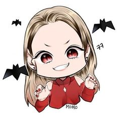 CUTE FANART  Vampire Momo  #TWICE #ONCE #트와이스 #원스 #모모 #momo #平井桃 #fanart #vampire #❤️