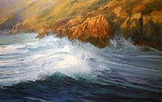 Infinite Repetition by Gil Dellinger Acrylic ~ 48 x 72 Seascape Paintings, Nature Paintings, Landscape Paintings, Best Artist, Pacific Ocean, Ocean Waves, Infinite, Water, Artwork