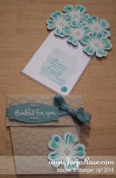 """By Kathe Oldham for """"The JorjaRose Files"""", FlowerPot Card featuring Stampin' Up! stamp sets """"Flower Shop"""", """"Good Greetings"""", and """"Petite Pairs"""" ..."""