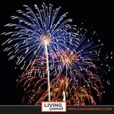 Fireworks display at Binny Park, #GreenwichCt July 3rd, click through below for details and information on many community events!  #Greenwich #Connecticut