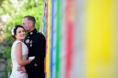 colourful beach huts down at a St Ives Harbour Hotel Wedding