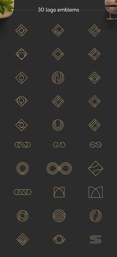 Geometric Logos vol.1 by Davide Bassu on @creativemarket