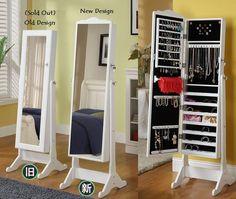 Genial idea el armario de cuerpo entero- armario para accesorios.    Love this  2 in 1 korean mirror & accessories closet