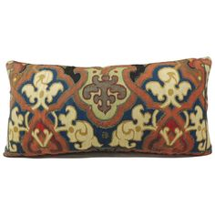 19th Century Aubusson Tapestry Bolster Pillow   From a unique collection of antique and modern pillows and throws at https://www.1stdibs.com/furniture/more-furniture-collectibles/pillows-throws/