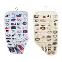 Earring Bag Transparent Business Membership Card Holding Bag 80 Pocket Jewelry Hanging Storage Organizer Holder