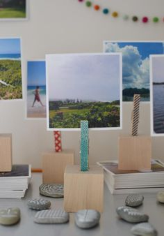Get inspired to display your photos in a whole new way with these wooden photo blocks that you can DIY.