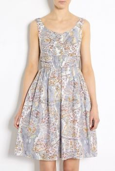 Paris Map Print Cotton Dress by Carven