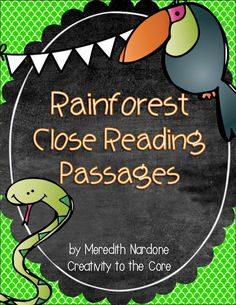Close Reading - Rainforests!