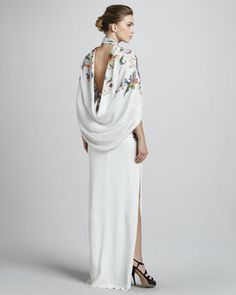 Etro Floral Caped Gown - Back