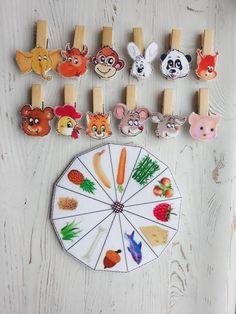 Developing Handmade Felt Animals Game on clothespins for Kids Preschool Craft Activities, Preschool Learning Activities, Infant Activities, Kids Learning, Animal Crafts For Kids, Summer Crafts For Kids, Art For Kids, Animal Games, Handmade Felt