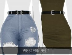 Simpliciaty – Western Belt for The Sims 4 Mods Sims 4, Sims 4 Mods Clothes, Sims 4 Clothing, Modest Clothing, Modest Outfits, Skirt Outfits, Summer Outfits, The Sims 4 Pc, Sims 4 Mm