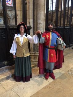Greeters at the Magna Carta dinner. Lincoln Cathedral.