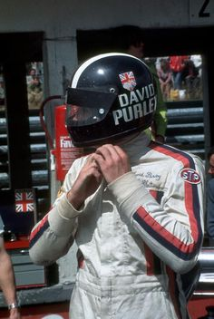 f1 David Purley, a true HERO!-Image by © Luca Tameo Collection. All Rights Reserved. Bell Star Helmet