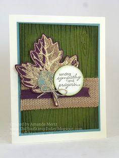 Did You Stamp Today?: Golden Leaves Sympathy - Fab Friday 69 - Stampin' Up! Vintage Leaves