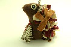 Squirrel Felt Stuff Animals  Handmade Toy by BessiesCreations