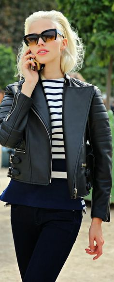 Street Style | Leather Jacket