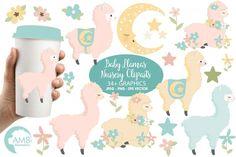 Baby Llama Nursery clipart, graphics, illustrations AMB-2266 By AMBillustrations