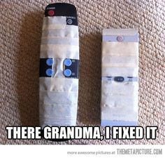 "On a lighter note generally means ""On a less serious topic."" Funny Images, and a lot of Humor. More Humor! Here Grandma, I Fix. Funny Shit, Haha Funny, Funny Stuff, I Love To Laugh, Make Me Smile, Funny Quotes, Funny Memes, Funniest Quotes, Funny Humour"