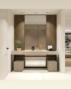 Bedroom Furniture Design, Modern Bedroom Design, Home Room Design, Bathroom Interior Design, Interior Design Living Room, Living Room Designs, House Design, Flur Design, Home Entrance Decor