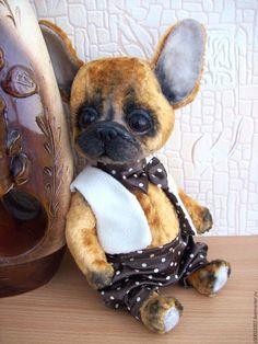 Мишки Тедди ручной работы. Ярмарка Мастеров - ручная работа. Купить Чарли. Handmade. Рыжий, щенок, плюш винтажный