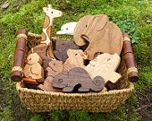 PICK ANY FOUR Wooden Toy Animals – Wood Toys – all natural teethers and Waldorf toddler toys - Wooden diy Diy Wood Projects, Wood Crafts, Projects To Try, Into The Woods, Toddler Toys, Kids Toys, Pet Toys, Baby Toys, Woodworking Plans