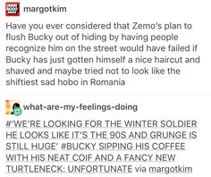 For crying out loud, Bucky, you just had to buy plums instead of going to the freaking barber, didn't you?