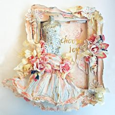 Dress form on altered frame Mixed Media Canvas, Mixed Media Collage, Canvas Collage, Scrapbooking, My Scrapbook, Altered Canvas, Altered Art, Paper Crafts, Diy Crafts