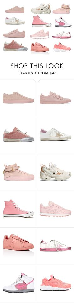 """""""PINKING OF SOME TRAINERS?"""" by thewelldressedworkout on Polyvore featuring Common Projects, Golden Goose, BUSCEMI, Reebok, Converse, adidas, NIKE and thewelldressedworkout"""